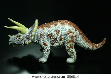 dinosaur at black background