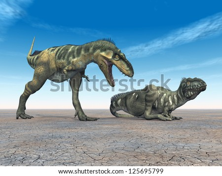 Dinosaur Bistahieversor Computer generated 3D illustration - stock photo