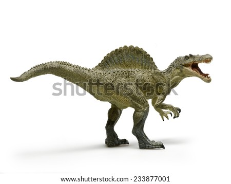 Dinosaur called spinosaurus, with the white background