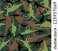 Dinosaur camouflage seamless pattern. Raster version, vector file available in portfolio. - stock photo
