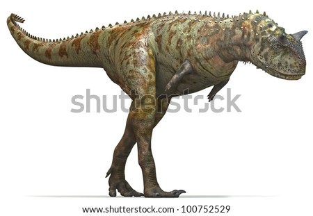 Dinosaur Carnivore hunt side - stock photo