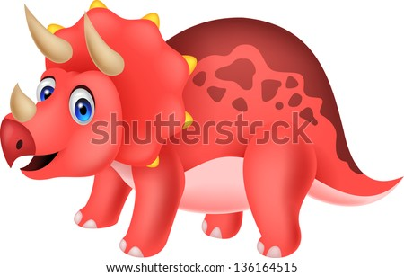 Dinosaur cartoon - stock photo