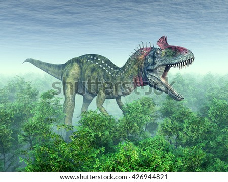 Dinosaur Cryolophosaurus Computer generated 3D illustration