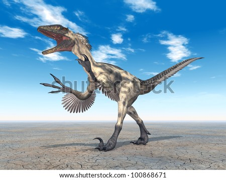Dinosaur Deinonychus Computer generated 3D illustration