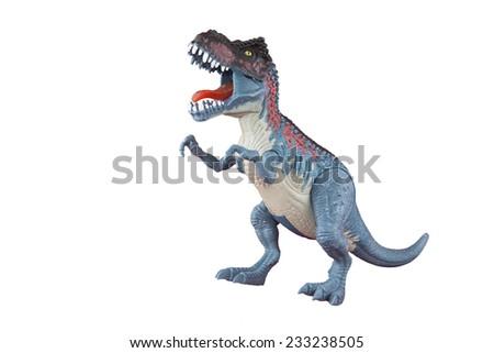 dinosaur isolated on a white background - stock photo
