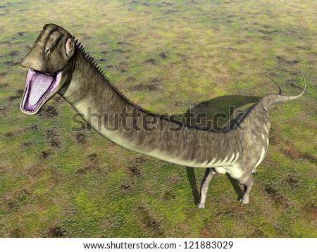 Dinosaur Mamenchisaurus Computer generated 3D illustration - stock photo