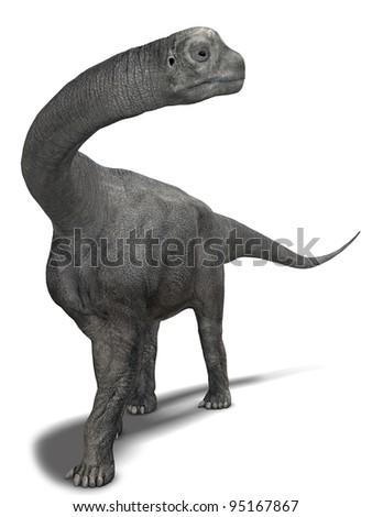 Dinosaur Sauropod Close-up - stock photo