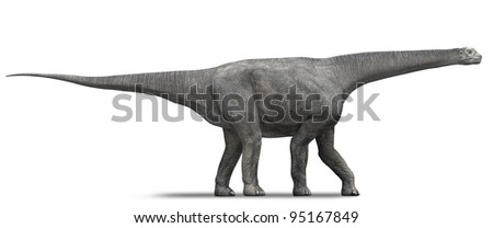 Dinosaur Sauropod Side - stock photo