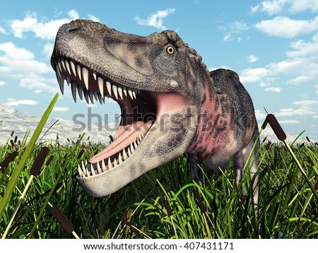 Dinosaur Tarbosaurus Computer generated 3D illustration