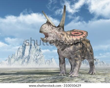 Dinosaur Torosaurus Computer generated 3D illustration - stock photo