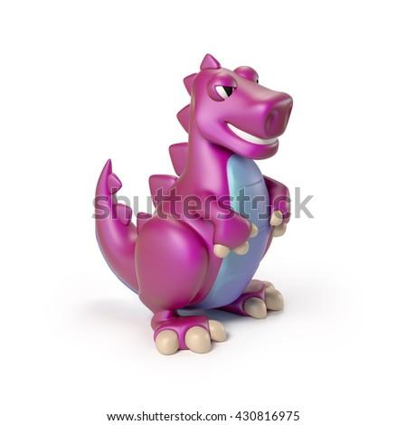 Dinosaur toy 3d rendering - stock photo