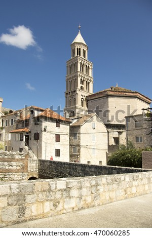 Diocletian palace, old historic town Split, Croatia, Europe