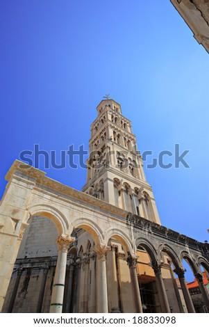 Diocletian's Palace in Split, Croatia - stock photo