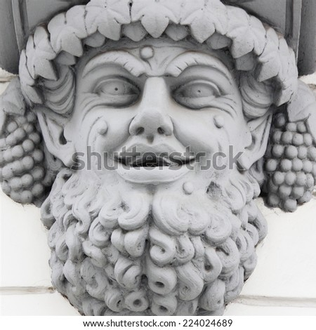 Dionysus (Lat. Bacchus). The younger god on Olympus. Responsible for the fertility of vegetation, wine,  inspiration, joy and celebration - stock photo