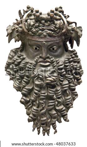 Dionysus mask (Greek god of vine) - stock photo