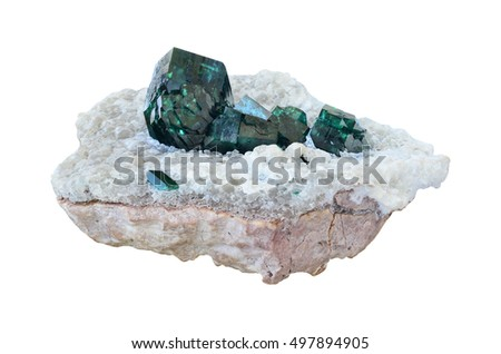 Dioptase from Tsumeb, Namibia.