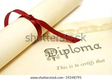 Diploma - stock photo