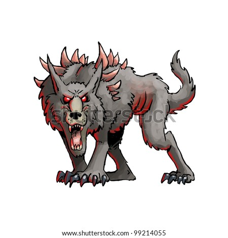 Dire Wolf - stock photo