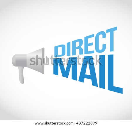 direct mail megaphone message. illustration design graphic - stock photo