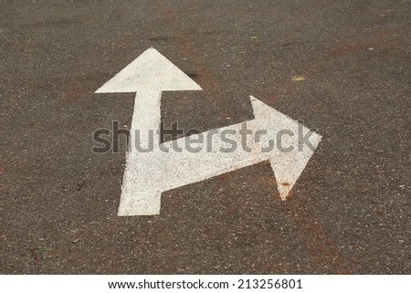 Direction arrow showing up