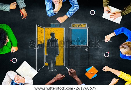 Direction Decision Chance Opportunity Intersection Concept - stock photo