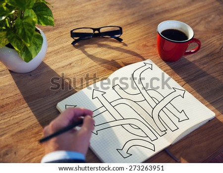 Direction Intersection Decision Option Chance Concept - stock photo