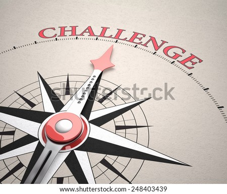 Direction of Challenge, Compass concept, 3d render - stock photo
