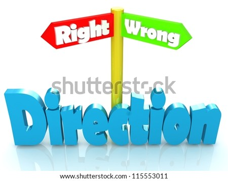 Direction pointer - stock photo