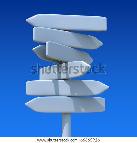 Direction sign with sky - stock photo