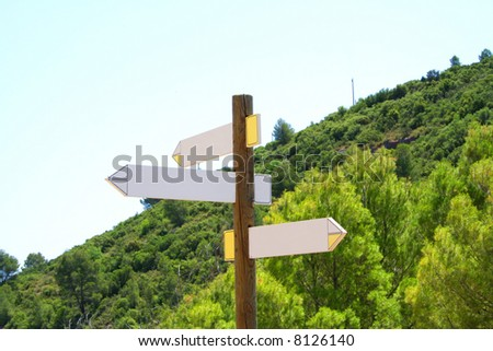 Direction Signs (editable) - stock photo
