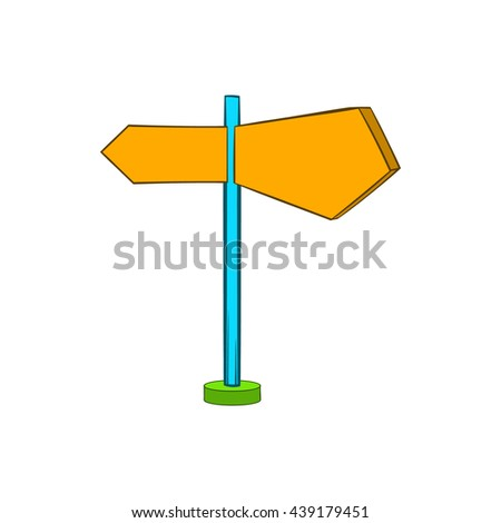 Direction signs icon in cartoon style - stock photo
