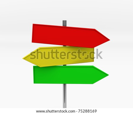 Direction Signs - this is 3d illustration - stock photo