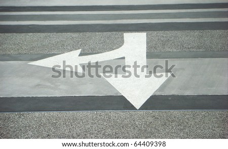Directional Arrow on road