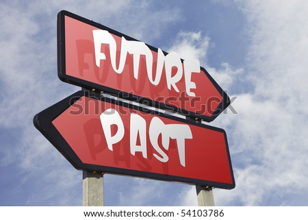 Directional road sign - stock photo