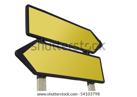 Directional road sign isolated - stock photo