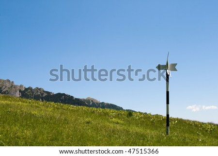 Directional signposts for hikers in the Cheia mountains, Romania