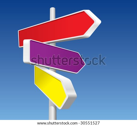Directional Signs (in the gallery also available vector version of this image) - stock photo