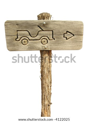 Directional 4x4 sign, easy to select/cutout.