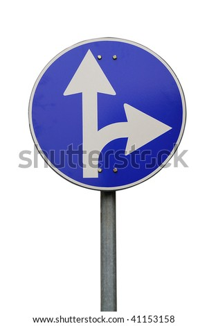Directions sign - stock photo