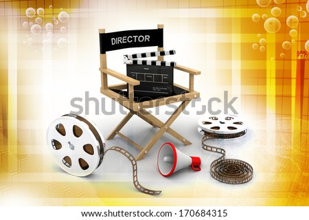 Director chair - stock photo