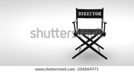 Director chair -including clipping path - stock photo