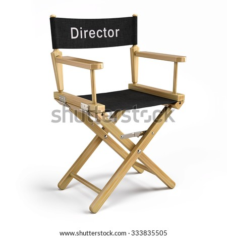 Director chair isolated on white - stock photo