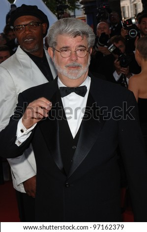 Director GEORGE LUCAS at the gala premiere of his movie Star Wars - Revenge of the Sith - at the 58th Annual Film Festival de Cannes. May 15, 2005 Cannes, France.  2005 Paul Smith / Featureflash - stock photo