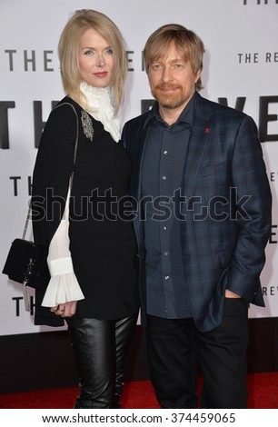 "Director Morten Tyldum & wife Janne Tyldum at the Los Angeles premiere of ""The Revenant"" at the TCL Chinese Theatre, Hollywood. 