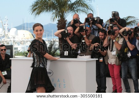Director Natalie Portman attend the 'A Tale Of Love And Darkness' Photocall during the 68th annual Cannes Film Festival on May 17, 2015 in Cannes, France. - stock photo