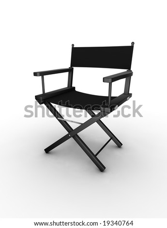 Director's chair. 3D generated image. Find similar files in my portfolio. - stock photo
