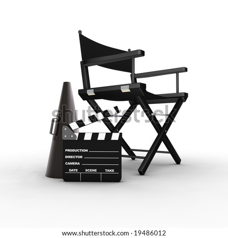 Director's chair. 3D generated image. Find similar files in my portfolio
