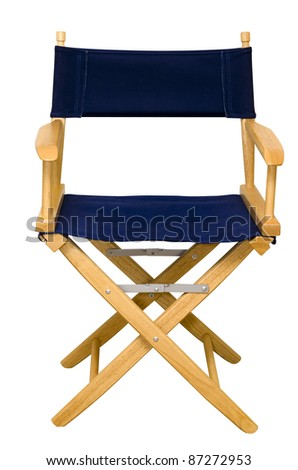 Director's chair isolated on white background with clipping path. - stock photo