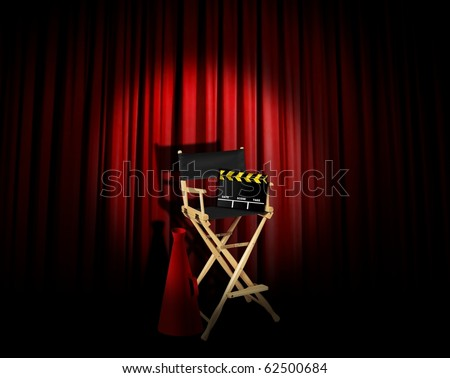 Director's spotlight - stock photo