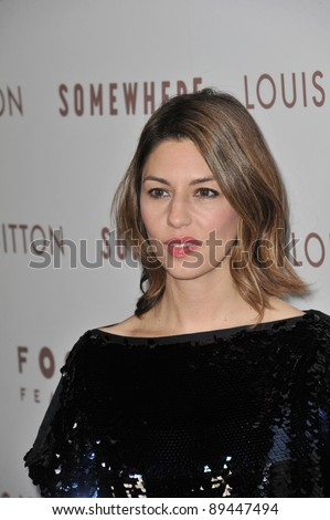 "Director Sofia Coppola at the Los Angeles premiere of her new movie ""Somewhere"" at the Arclight Theatre, Hollywood. December 7, 2010  Los Angeles, CA Picture: Paul Smith / Featureflash"